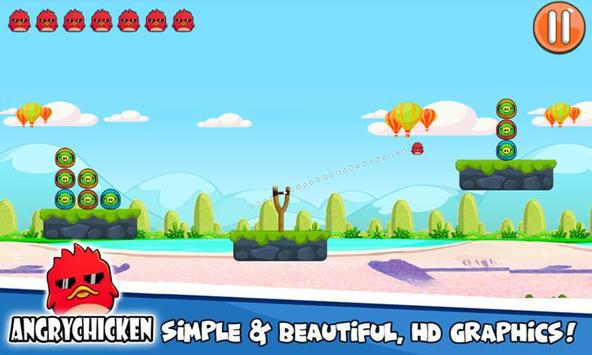 Angry Chicken Knock Down - Hungry Birds Slingshot screenshot 21
