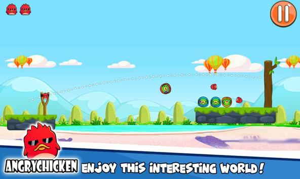 Angry Chicken Knock Down - Hungry Birds Slingshot screenshot 2