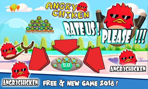 Angry Chicken Knock Down - Hungry Birds Slingshot screenshot 3