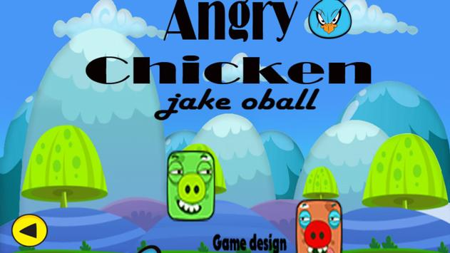 Angry Chicken Super Knock Down Super hungry birds screenshot 1