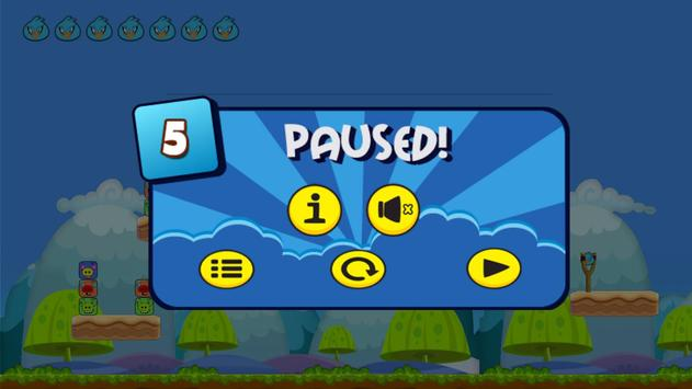 Angry Chicken Super Knock Down Super hungry birds screenshot 4