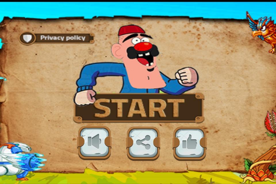Angry grandpa run free game poster
