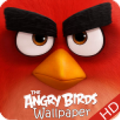 angry red wallpaper bird HD icon