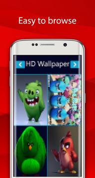 angry red wallpaper bird HD screenshot 4