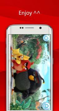 angry red wallpaper bird HD screenshot 5