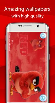 angry red wallpaper bird HD screenshot 9