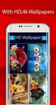 angry red wallpaper bird HD screenshot 13