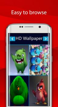 angry red wallpaper bird HD screenshot 10