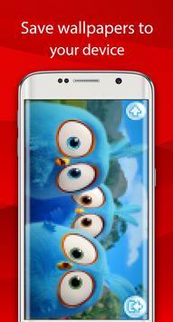 angry red wallpaper bird HD screenshot 2
