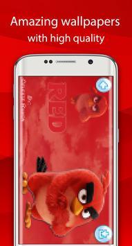angry red wallpaper bird HD screenshot 3