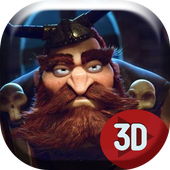 3D Angry Viking Live Wallpap icon