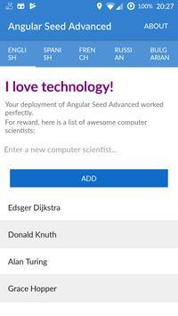 Angular seed advanced apk screenshot