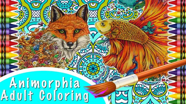 Animorphia Adult Coloring Book Poster