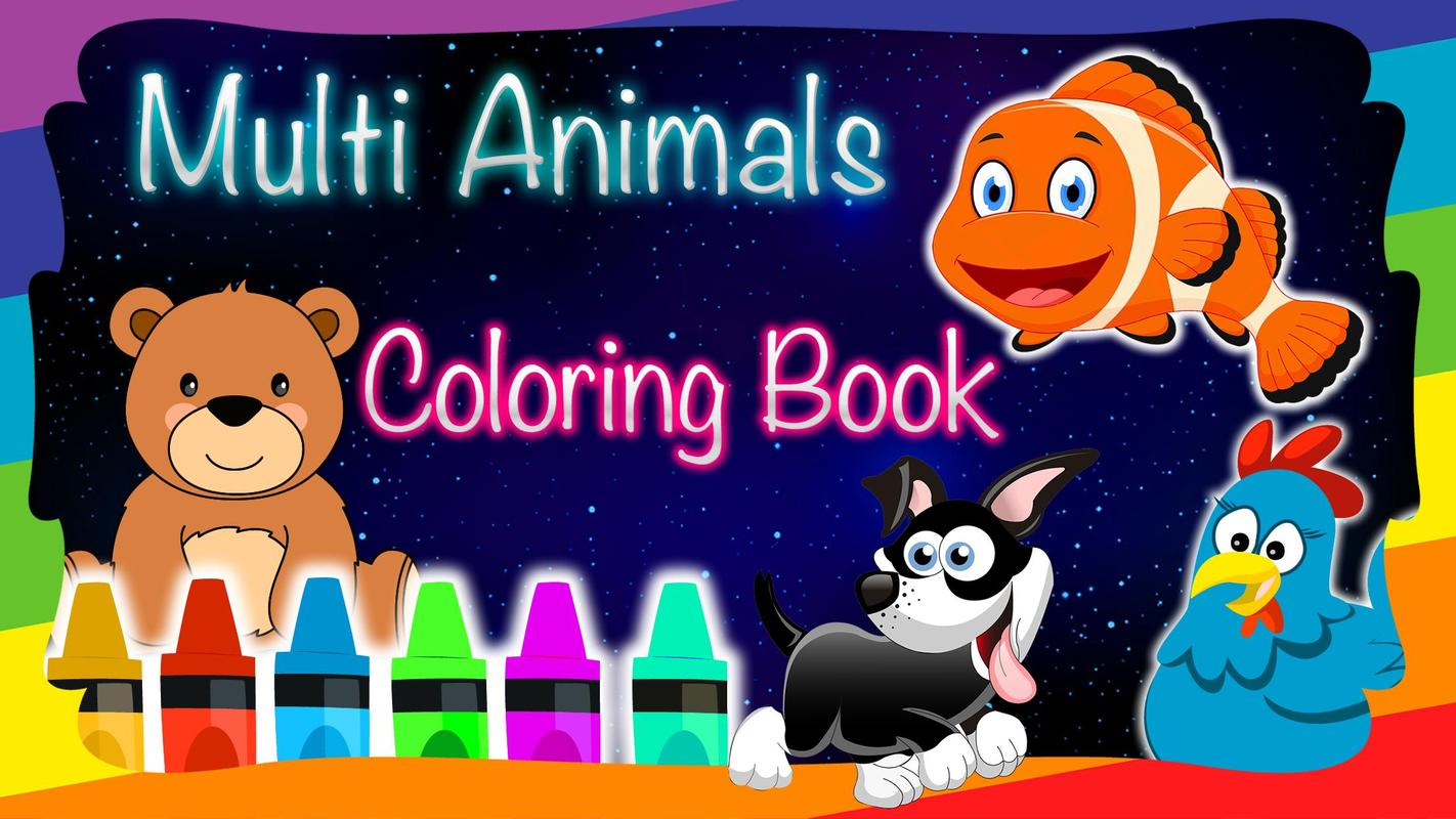 Animales para Colorear Múltiples Libros Descarga APK - Gratis ...