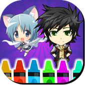 Anime Chibi Coloring Book icon