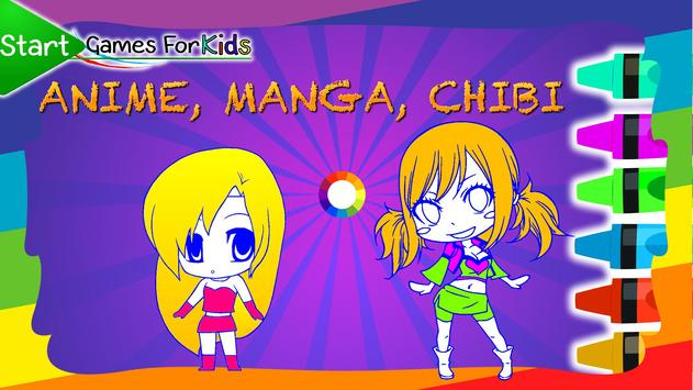 Anime Chibi Coloring Book screenshot 9