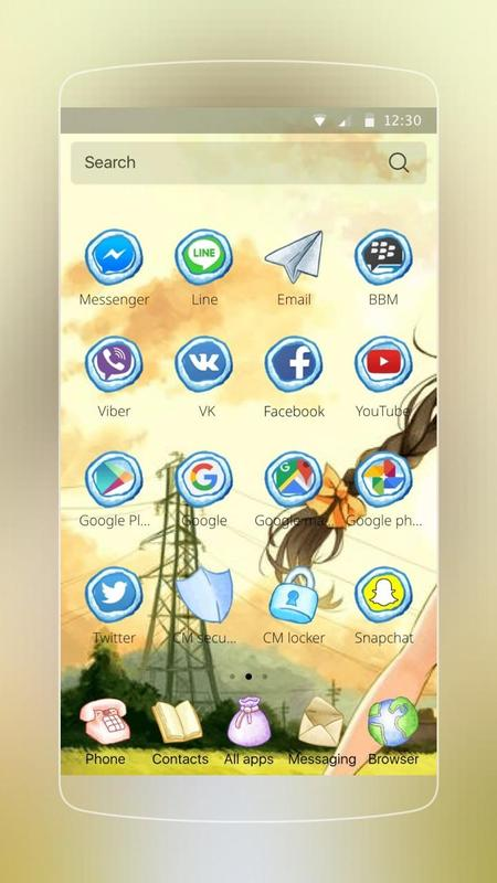 anime girls theme apk download free personalization app