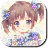 Anime Girl Complete Cute Woman icon