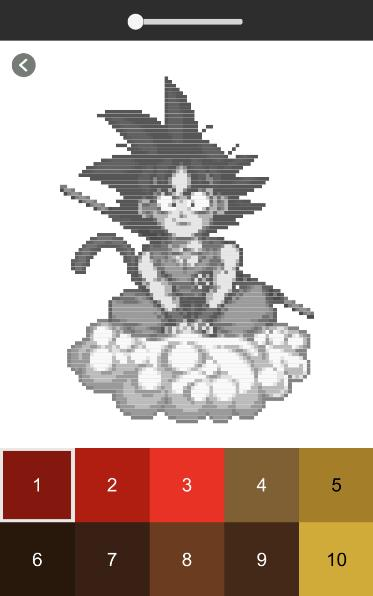 Anime Pixel Art Anime Dibujos Para Colorear For Android