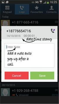 Note a Call apk screenshot