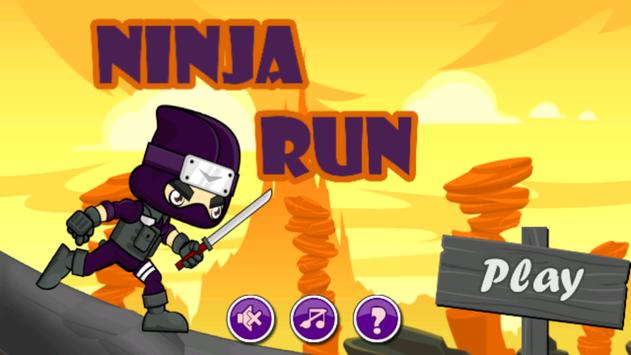Ninja Run - adventure game poster