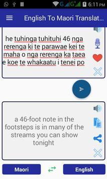 English Maori Translator screenshot 11