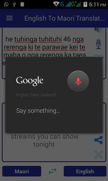 English Maori Translator apk screenshot