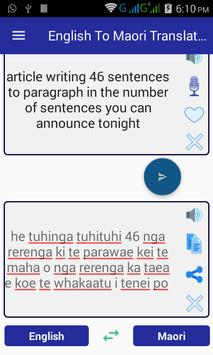 English Maori Translator screenshot 8