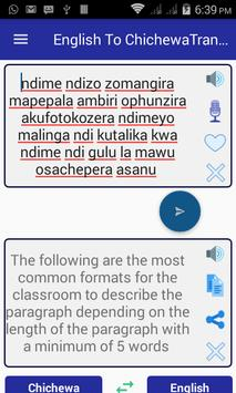 English Chichewa Translator apk screenshot