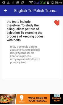 English Polish Translator apk screenshot
