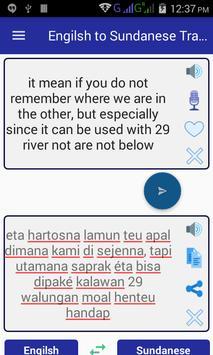 English Sundanese Translator apk screenshot