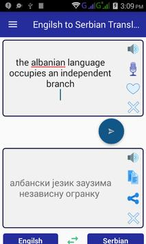 English Serbian Translator apk screenshot