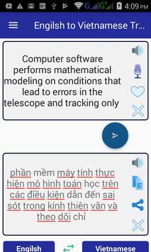 English Vietnamese Translator apk screenshot