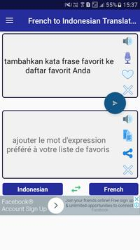 French Indonesian Translator screenshot 1