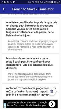 French Slovak Translator apk screenshot