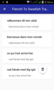 French Swedish Translator screenshot 5