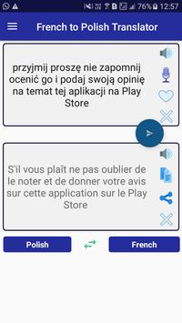French Polish Translator apk screenshot