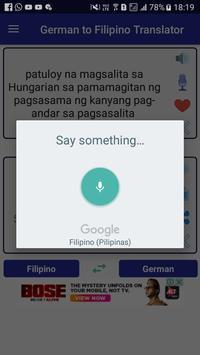 German Filipino Translator apk screenshot