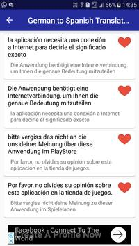 German Spanish Translator apk screenshot