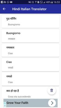 Hindi Italian Translator screenshot 4