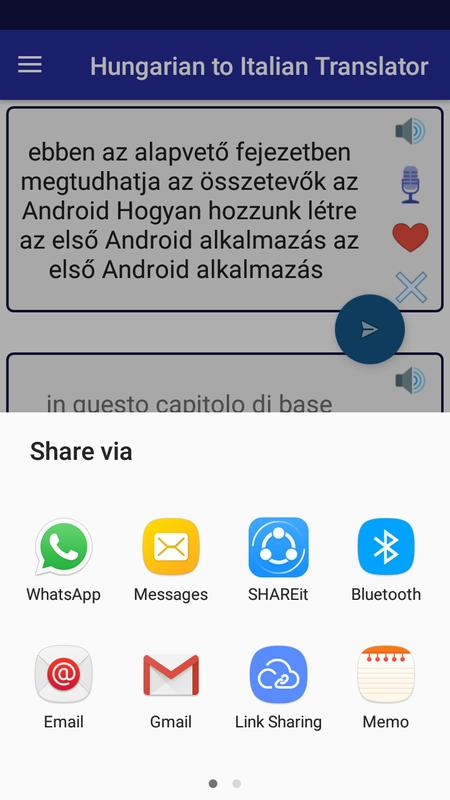 Translator Italian: Hungarian Italian Translator Para Android