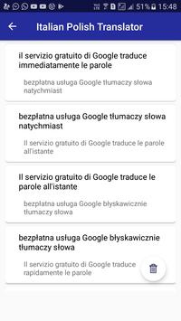 Italian Polish Translator apk screenshot