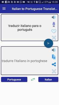 Italian Portuguese Translator poster