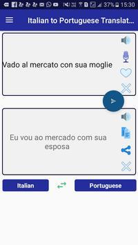 Italian Portuguese Translator screenshot 1