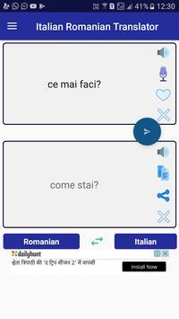 Italian Romanian Translator apk screenshot