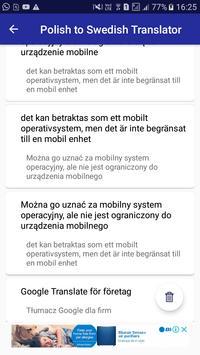 Polish Swedish Translator screenshot 5