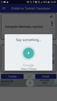 Polish Turkish Translator apk screenshot