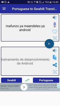 Portuguese Swahili Translator screenshot 1