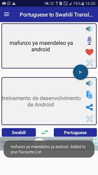 Portuguese Swahili Translator screenshot 3
