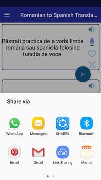 Romanian Spanish Translator screenshot 7